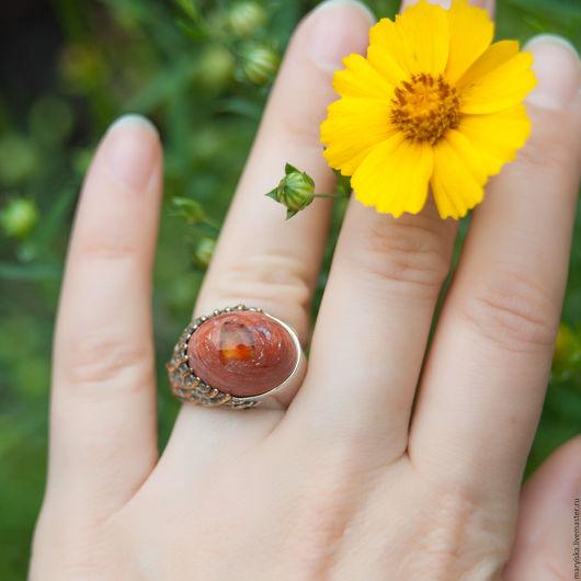 Кольца ручной работы. Ярмарка Мастеров - ручная работа. Купить Мексиканский опал (кольцо) (216). Handmade. Комбинированный, опал в серебре