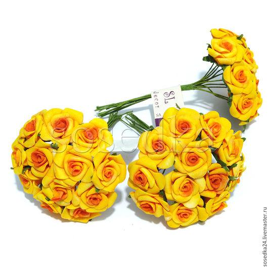 Материалы для флористики ручной работы. Ярмарка Мастеров - ручная работа. Купить Маленькие розочки для свадебного декора SA115-365. Handmade.