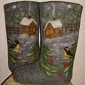 """Обувь ручной работы. Ярмарка Мастеров - ручная работа Валенки """"Домик в деревне"""".. Handmade."""