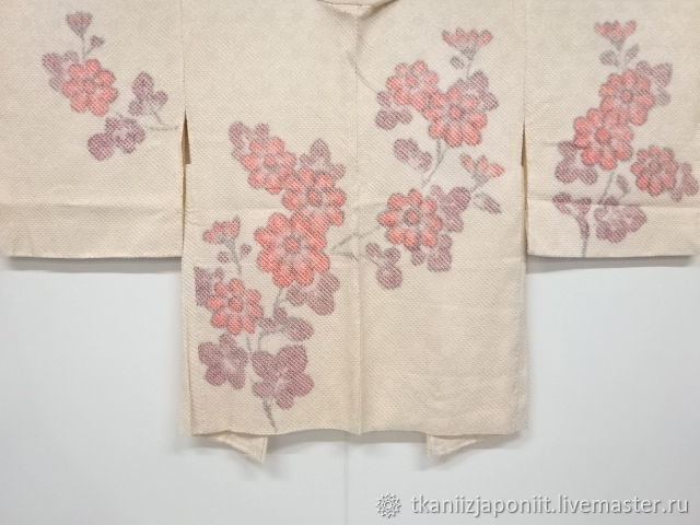 Women's silk haori Japanese Shibori silk 'Flowers', Vintage clothing, Chelyabinsk,  Фото №1