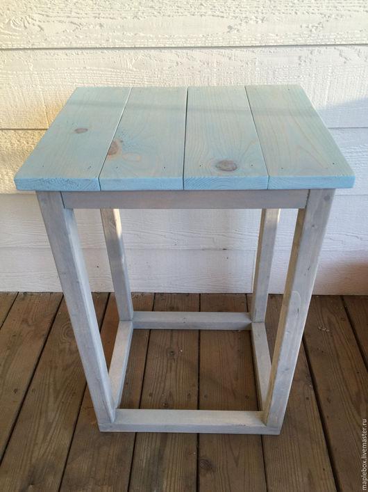 Мебель ручной работы. Ярмарка Мастеров - ручная работа. Купить Столик № 1. Handmade. Голубой, кантри
