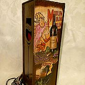 Storage Box handmade. Livemaster - original item Box wine is Moulin Rouge. Handmade.