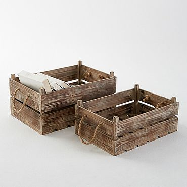Цветы и флористика ручной работы. Ярмарка Мастеров - ручная работа Кашпо: ящик. Handmade.