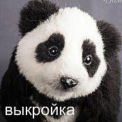 Материалы для творчества ручной работы. Ярмарка Мастеров - ручная работа Выкройка панда скелетом. Handmade.