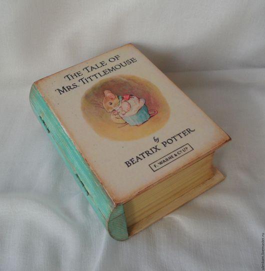 """Шкатулки ручной работы. Ярмарка Мастеров - ручная работа. Купить Шкатулка-книга  """"Mrs.Tittlemouse"""". Handmade. Комбинированный, шкатулка-книга"""