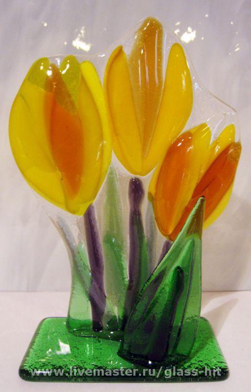 """Кухня ручной работы. Ярмарка Мастеров - ручная работа. Купить """"Жёлтые тюльпаны"""" Салфетница. Handmade."""
