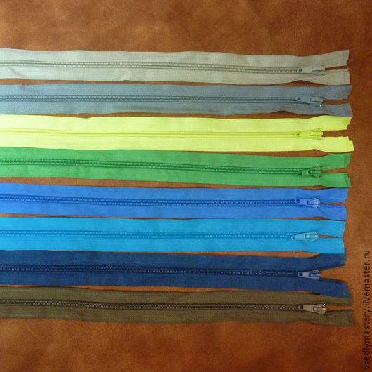 Шитье ручной работы. Ярмарка Мастеров - ручная работа. Купить Молния спираль 40см, тип 5, разъемные - 8 цветов. Handmade.