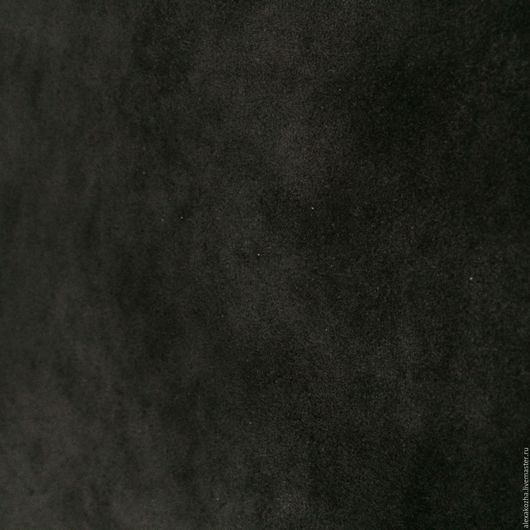 Шитье ручной работы. Ярмарка Мастеров - ручная работа. Купить Кожа натуральная Спилок-велюр Люкс Черный 1,4-1,6. Handmade.