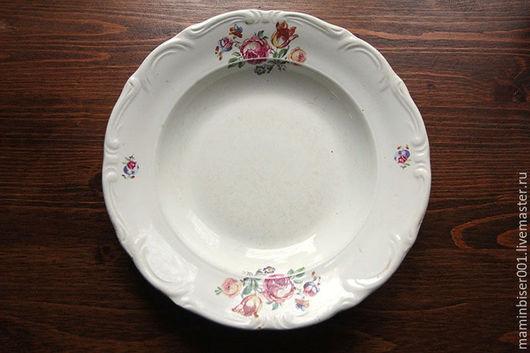 """Винтажная посуда. Ярмарка Мастеров - ручная работа. Купить Две фаянсовые тарелки завода """"Буди"""" (Украина). Handmade. Белый"""