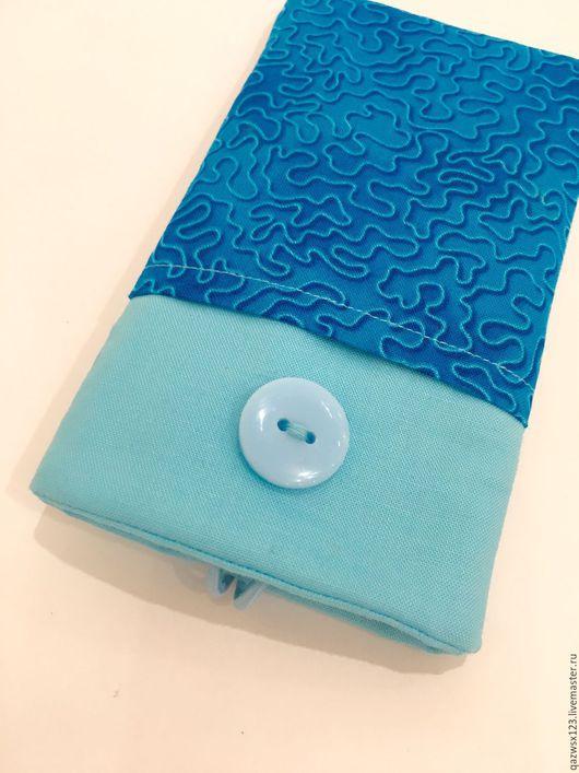 Для телефонов ручной работы. Ярмарка Мастеров - ручная работа. Купить Чехол для iPhone 6s. Handmade. Бирюзовый, чехол для сотового