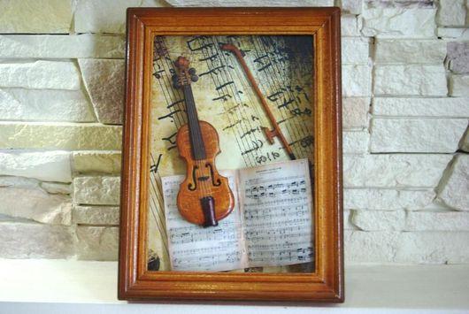 Миниатюрные модели ручной работы. Ярмарка Мастеров - ручная работа. Купить миниатюрная скрипка. Handmade. Музыкальные инструменты, подарок музыканту