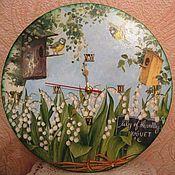 """Для дома и интерьера ручной работы. Ярмарка Мастеров - ручная работа Часы интерьерные """"Весенние птахи». Handmade."""