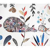 Картины и панно ручной работы. Ярмарка Мастеров - ручная работа Добрые киты. Коллаж.. Handmade.