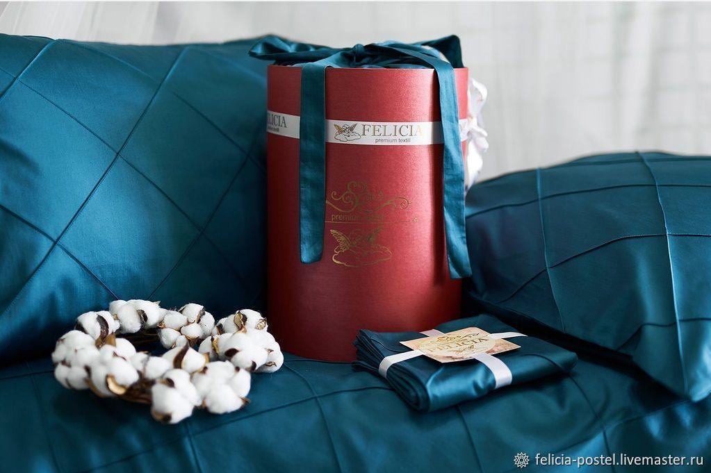 'Petrol ' - Lux satin bed linen, Linen in the crib, Cheboksary,  Фото №1