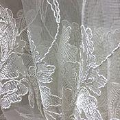 Для дома и интерьера handmade. Livemaster - original item Tulle (finished ) embroidered mesh champagne. Handmade.