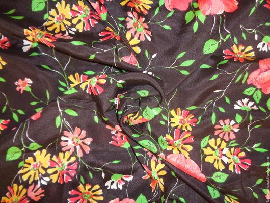 Шитье ручной работы. Ярмарка Мастеров - ручная работа. Купить Ткань, шелк натуральный (крепдешин), винтажный. Handmade. Натуральный шелк