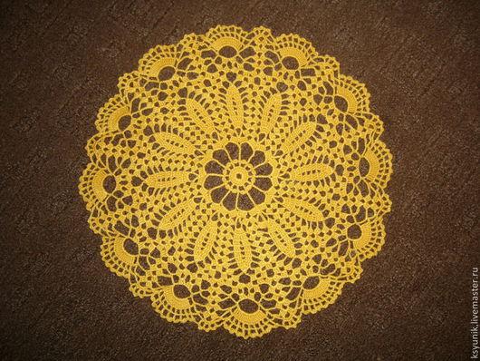 Текстиль, ковры ручной работы. Ярмарка Мастеров - ручная работа. Купить Салфетка вязаная № 006. Handmade. Желтый