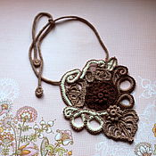Украшения handmade. Livemaster - original item Necklace Three chocolates, Irish lace. Handmade.