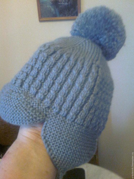 Шапки ручной работы. Ярмарка Мастеров - ручная работа. Купить Вязаная шапочка для мальчика. Handmade. Однотонный, шерсть, шерсть меринос