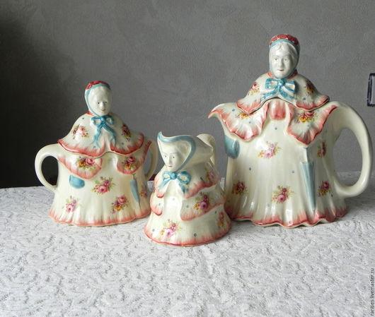 Винтажная посуда. Ярмарка Мастеров - ручная работа. Купить Набор Бабушка,чайник,соусник,сахарница,H.J.Woods,Англия,1938 г.,фарфор. Handmade.
