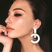 Украшения handmade. Livemaster - original item Stud earrings large rings. Handmade.