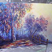 Картины и панно ручной работы. Ярмарка Мастеров - ручная работа Осень в лиловых тонах. Handmade.