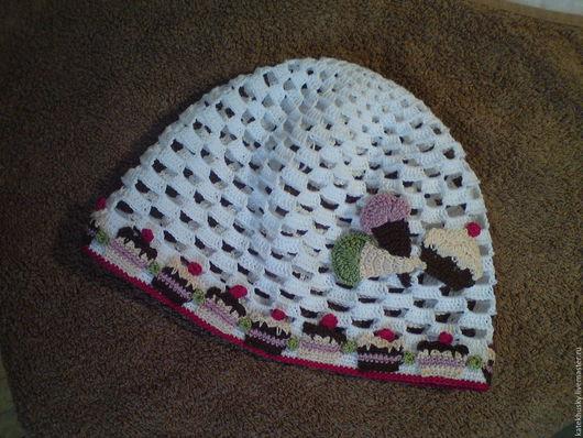 Шапки и шарфы ручной работы. Ярмарка Мастеров - ручная работа. Купить Летняя шапочка. Handmade. Разноцветный, шапочка крючком, крючком