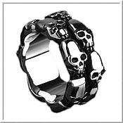 Украшения handmade. Livemaster - original item Ring with Skulls men`s No. 4 steel. Handmade.