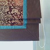 """Для дома и интерьера ручной работы. Ярмарка Мастеров - ручная работа Римская штора """"Мята и шоколад"""". Handmade."""