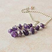 Украшения handmade. Livemaster - original item Necklace on a chain amethyst lilac women`s. Handmade.