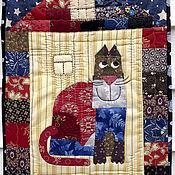 Картины и панно ручной работы. Ярмарка Мастеров - ручная работа Кот в домике. Handmade.