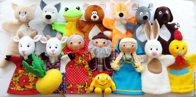 Куклы для кукольного театра своими руками на руку