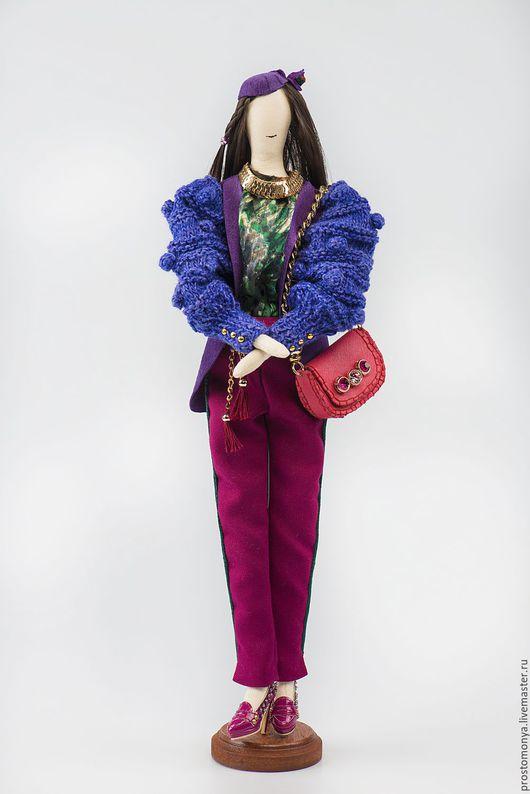 """Коллекционные куклы ручной работы. Ярмарка Мастеров - ручная работа. Купить """"Ирис"""". Handmade. Тёмно-синий, текстильная кукла"""