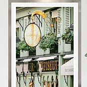 Картины и панно handmade. Livemaster - original item Photo Paris cafe, Paris black and white paintings. Handmade.