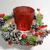 Для дома и интерьера ручной работы. Ярмарка Мастеров - ручная работа подсвечник новогодний. Handmade.