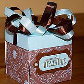 """Подарки к праздникам ручной работы. Ярмарка Мастеров - ручная работа Коробочка с секретом """"Мужская"""". Handmade."""