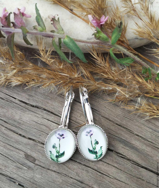 Earrings 'Poppies', Earrings, Moscow,  Фото №1