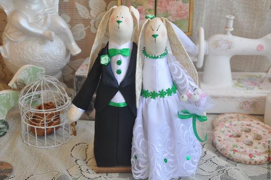 Куклы Тильды ручной работы. Ярмарка Мастеров - ручная работа. Купить Свадебные неразлучники. Handmade. Белый, розовый, кукла интерьерная