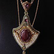 Украшения handmade. Livemaster - original item Strict pendant with jasper. Handmade.