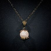 Колье ручной работы. Ярмарка Мастеров - ручная работа Ожерелье с розовым морганитом. Handmade.