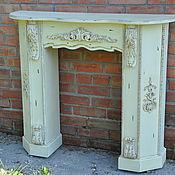 Для дома и интерьера ручной работы. Ярмарка Мастеров - ручная работа Камин деревянный  Прованс 1К, белый, портал, фальш-камин. Handmade.