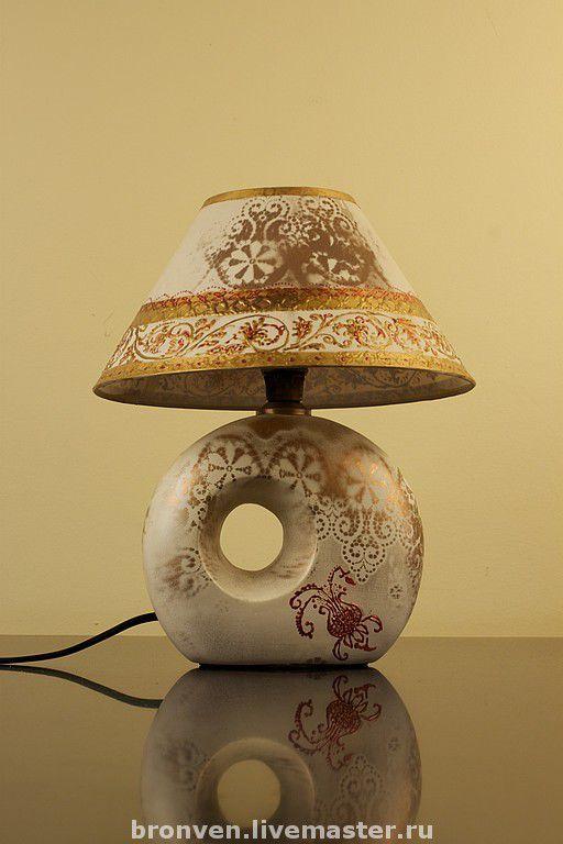 Освещение ручной работы. Ярмарка Мастеров - ручная работа. Купить Настольная лампа. Handmade. Настольная лампа, авторская роспись, свет