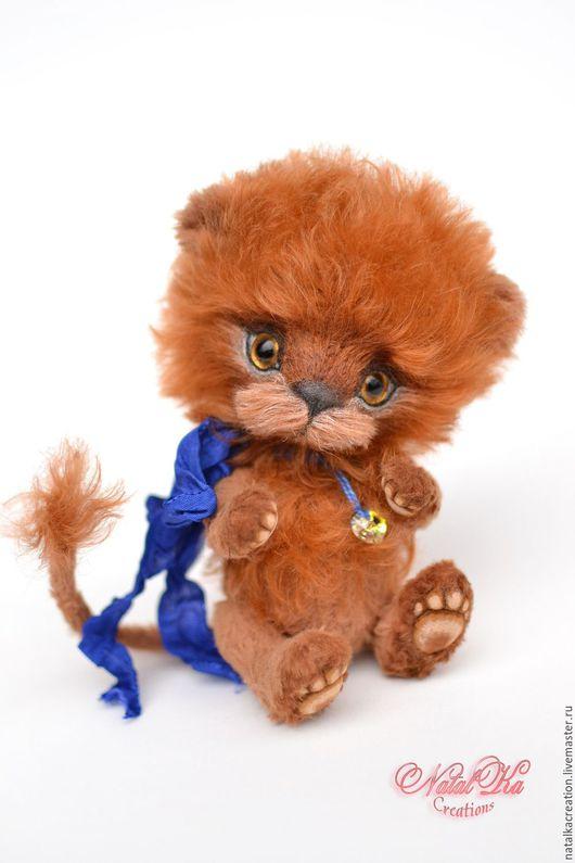 Мишки Тедди ручной работы. Ярмарка Мастеров - ручная работа. Купить Лев тедди Никлас 15,5 см. Handmade.
