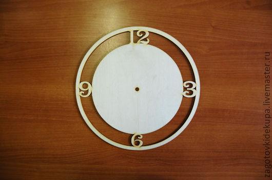 Часы круглые с цифрами Размер: d-30 см  Материал: фанера 3 мм