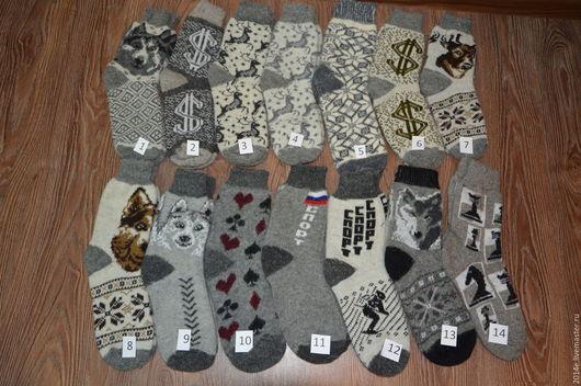 Носки, Чулки ручной работы. Ярмарка Мастеров - ручная работа. Купить носки шерстяные мужские. Handmade. Орнамент, зимние