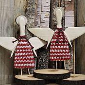 Елочные игрушки ручной работы. Ярмарка Мастеров - ручная работа Елочные игрушки: Рождественский ангел.. Handmade.