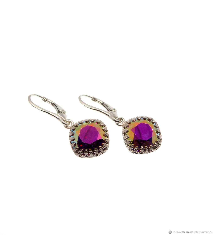 Fuchsia transmission earrings, Earrings, Kirov,  Фото №1