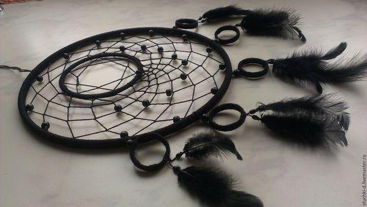 """Ловцы снов ручной работы. Ярмарка Мастеров - ручная работа. Купить Ловец снов """"Чёрный"""". Handmade. Черный, Хэллоуин"""