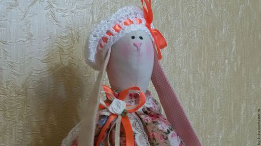 Куклы Тильды ручной работы. Ярмарка Мастеров - ручная работа. Купить Тильда заяц . с мишкой. Стоячий.. Handmade. Рыжий, зайчик