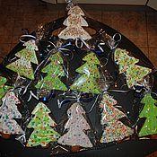 Сувениры и подарки ручной работы. Ярмарка Мастеров - ручная работа елки нарядные пряничные. Handmade.